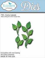 Elizabeth Craft Metal Die - Curvy Leaves