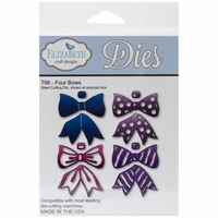Elizabeth Craft Metal Die - Four Bows