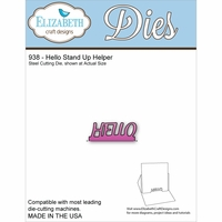 Elizabeth Craft Metal Die - Hello Stand Up Helper