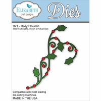 Elizabeth Craft Metal Die - Holly Flourish