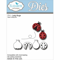 Elizabeth Craft Metal Die - Ladybugs