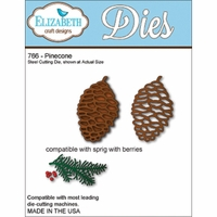 Elizabeth Craft Metal Die - Pinecone