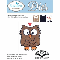Elizabeth Craft Metal Die - Poppy The Owl
