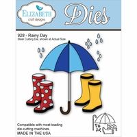 Elizabeth Craft Metal Die - Rainy Day