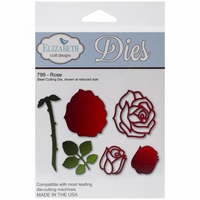 Elizabeth Craft Metal Die - Rose