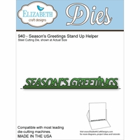 Elizabeth Craft Metal Die - Season's Greetings Stand Up Helper