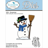 Elizabeth Craft Metal Die - Snowman