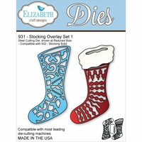 Elizabeth Craft Metal Die - Stocking Overlay Set 1