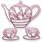 Elizabeth Craft Metal Die - Teapot & Cups