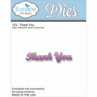 Elizabeth Craft Metal Die - Thank You (723)