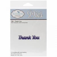 Elizabeth Craft Metal Die - Thank You (788)