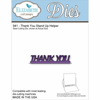 Elizabeth Craft Metal Die - Thank You Stand Up Helper