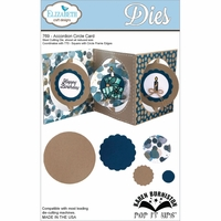Pop It Up Metal Dies By Karen Burniston - Accordian Circle Card