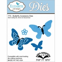 Pop It Up Metal Dies By Karen Burniston - Butterfly Accessory