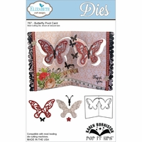 Pop It Up Metal Dies By Karen Burniston - Butterfly Pivot Card