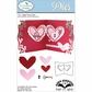 Elizabeth Craft Pop It Up Metal Dies By Karen Burniston - Heart Pivot Card