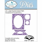 Elizabeth Craft Pop It Up Metal Dies By Karen Burniston - Oval Flourish Frame Edges