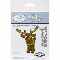 Elizabeth Craft Pop It Up Metal Dies By Karen Burniston - Rudy The Reindeer