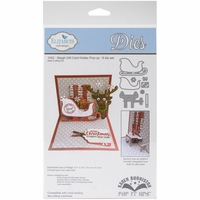 Elizabeth Craft Pop It Up Metal Dies By Karen Burniston - Sleigh Gift Card Holder