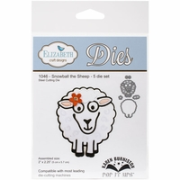 Elizabeth Craft Pop It Up Metal Dies By Karen Burniston - Snowball The Sheep