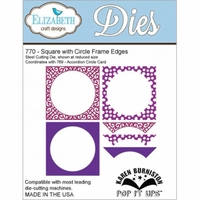 Pop It Up Metal Dies By Karen Burniston - Square w/Circle Frame Edges
