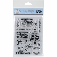Elizabeth Crafts Clear Mounted Stamps - Merry & Bright