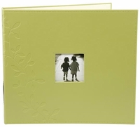 "Embossed Leather 3-Ring Album 12""x12"" - Greenhouse"