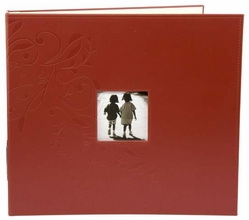 "Embossed Leather 3-Ring Album 12""x12"" - Red - Click to enlarge"