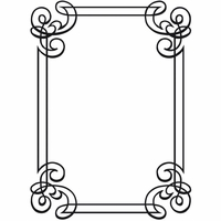 "Embossing Folder 4.25""x5.75"" - Ornate Frame"
