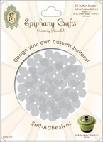 Epiphany Crafts Button Studio Self-Adhesive Buttons - Flower 20