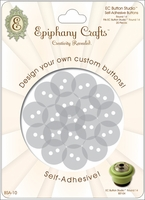 Epiphany Crafts Button Studio Self-Adhesive Buttons - Round 20