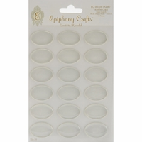 Epiphany Crafts Clear Bubble Caps - Oval 25