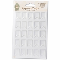 Epiphany Crafts Clear Bubble Caps - Pennant 25