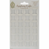 Epiphany Crafts Clear Bubble Caps - Square 25