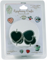 Epiphany Crafts Metal Charm Settings - Heart 25