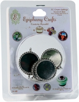 Epiphany Crafts Metal Charm Settings - Round 25