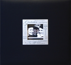 "Expressions Postbound Album 8""x8"" - Graduation Black - Click to enlarge"