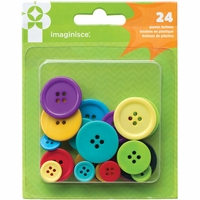 Family Fun Plastic Buttons