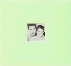 "Fashion Fabric Postbound Album 8""X8"" - Pastel Green - Click to enlarge"