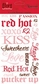 Flirt Rub-On Transfers - Phrase