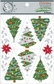 Fundamentals Glitter Cardstock Stickers - Christmas Trees