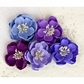 "Giselle Fabric Flowers 2"" - Plum"