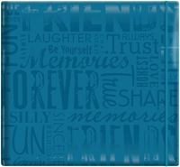 "Gloss Scrapbook 12""x12"" - Friends-Teal"