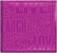 "Gloss Scrapbook 12""x12"" - Live Love Laugh-Bright Purple"