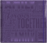 "Gloss Scrapbook 12""x12"" - Live Love Laugh-Deep Purple"