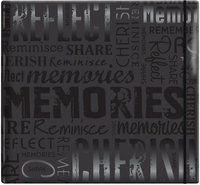 "Gloss Scrapbook 12""x12"" - Memories-Black"