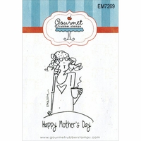 "Gourmet Rubber Stamps 2.75""x4.75"" -  Happy Mother's Day"