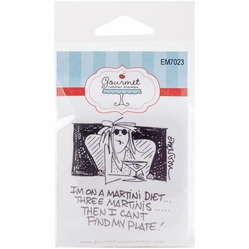 "Gourmet Rubber Stamps Cling Stamps 2.75""x4.75"" - Martini Diet - Click to enlarge"