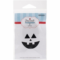 Gourmet Rubber Stamps Cling Stamps - Pumpkin Face 5