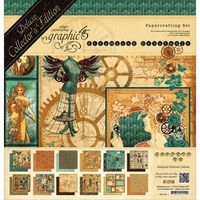 "Graphic 45 Deluxe Collector's Edition Pack 12""x12"" - Steampunk Debutante"
